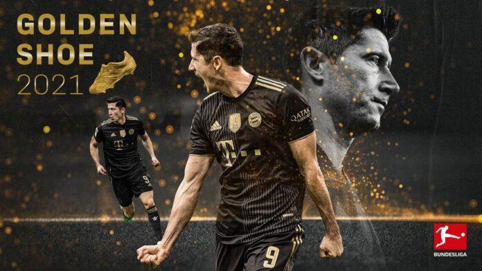 """""""เลวานดอฟสกี้"""" ผงาดคว้ารางวัลรองเท้าทองคำ 2021 บุนเดสลีกา เยอรมัน"""