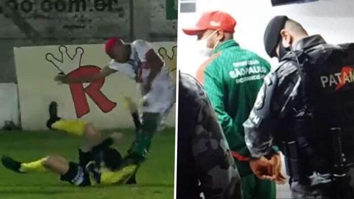 แข้งโหดบราซิลโดนจับคาสนาม หลังทำร้ายร่างกายผู้ตัดสิน ฟุตบอลรายการอื่นๆ